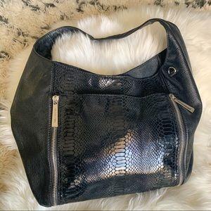 Michael Kors Leather & Snakeskin Hobo Bag